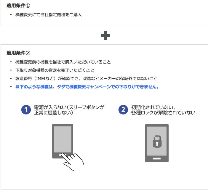 ソフトバンクのiPhone下取り条件