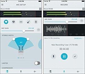 shure レコーディングアプリ