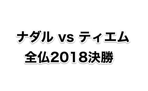 【2018全仏決勝ナダルvsティエム】クレーキングvs次世代クレーキング
