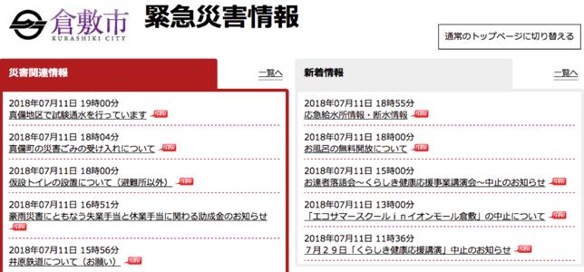 岡山県倉敷市真備町の大雨問題はハザードマップで対策できていた!?