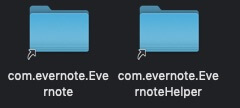 evernote シンボリックリンク