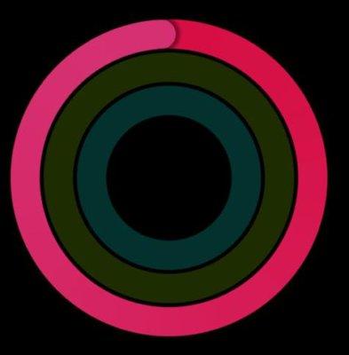 赤の円は『消費カロリー』を示す