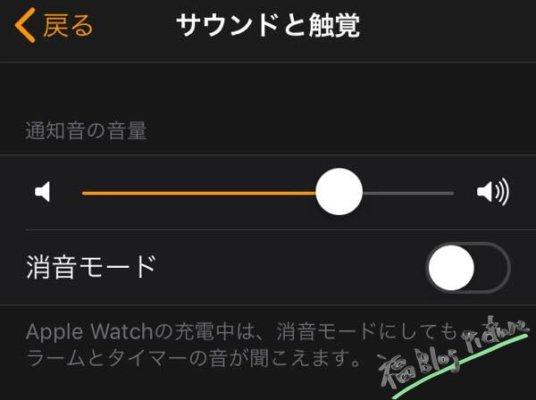 通知音の音量変更と消音モードにする方法【Apple Watch】