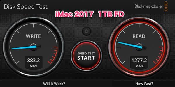 1TB フュージョンドライブ 速度