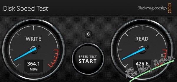 旧SSDの速度